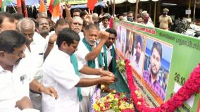 tribute-in-trichy-to-the-ashes-of-farmers-killed-in-car-crash-in-up